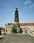 Castle with tower and Bastille, Weimar, Thuringia, Germany