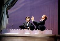 SG T, Theater, Pantomime, Marcel Marceau ´Le Chapeau Melon´, Prinzregententheater, München, 1.10.1997,  maske schminke gesicht weiß geschminkt hut mel...