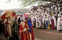 Parade of Palm Sunday. Aksum, province of Tigray. Ethiopia