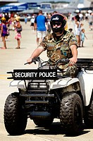 Security patrols in air show. Selfridge Air Force Base. Michigan. USA