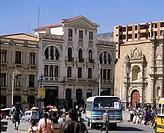 Geo., Bolivien, La Paz, Straßenszene in der Stadt,