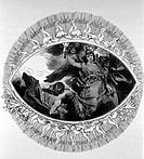 SW SG hist. Literatur, ´Faust I´, Kapitel ´Prolog im Himmel´, Szene mit Engeln, Xylographie von Alexander Liezen Mayer, um 1870 johann wolfgang von go...