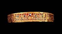 Kunst, Epochen, Hunnen, Gold Diadem getrieben und mit Edelsteinen besetzt,  Csorna (Komitat Györ-Soporon), 5. Jh.,  Ungarisches Nationalmuseum Budapes...