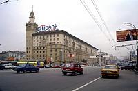 Geo., Russland, Moskau, Strassenszenen, Straßenszene ´Garden Ring´, Sadovoe Koltzo, Innenstadt , links Botschaft von USA und  Großbritannien, aussenan...