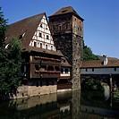 Geografie, BRD, Bayern, Nürnberg, Gebäude, Weinstadel, Henkersteg, Unschlitthaus, Pegnitz,