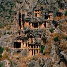 Geografie, Türkei, Myra, Felsengräber, aus dem 4. und 5. Jahrhundert v.Chr. lykische Gräber  antike, felsengrab, felsen, grab