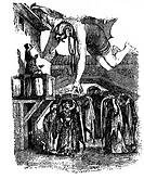 Literatur hist., Märchen, ´1001 Nacht´, Illust. a. d. Übersetzung von Gustav Weil, Herausgeber: Prof. J. M. Metzger, ´Geschichte von Alladdin und der ...