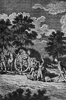 Medizin hist.- Krankheiten, Seuchen, Pest,  Verscharren der Pesttoten in einer Grube,  Kupferstich, England 1665  Epidemie, Seuche, Pestgrube, Tote, L...
