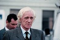 Film,´Die Stunde der Patrioten´, USA 1992, (Patriot Games), Regie: Phillip Noyce, Szene mit: Richard Harris,  graues Haar, Halbfigur, Portrait, alter ...