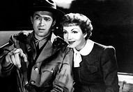 Film, ´Drunter und drüber´, USA 1939, ( It`s a wonderful world ), Regie: W.S. van Dyke, Szene mit: James Stewart & Claudette Colbert, Mann, Frau, Paar...