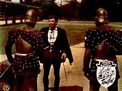 Film, ´Liebe, Tod und Teufel´, E 1955, Regie: Richard Thorpe, Szene mit: Robert Taylor,  Ritter, Edelmann, Bedrohen,