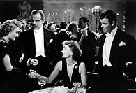 Film, ´Die Frau mit den zwei Gesichtern´ (The two-faced woman), USA 1941, Regie: George Cukor, Szene mit: Greta Garbo, Melvyn Douglas und NIPs begrüßu...