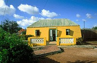 Traditional kunuku house. Curacao. Caribbean