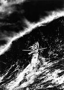 Film, ´Der Sturm´ (The perfect storm) USA 2000, Regie Wolfgang Petersen, Filmszene,  schiff auf dem meer, wasser, sturm, orkan, naturgewalt,