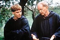 Film, ´Vaya con Dios´ (Und führe uns in  Versuchung), BRD 2002, Regie: Zoltan Spirandelli Szene mit Michael Gwisdek und Daniel Brühl  sich unterhalten...