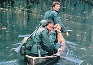 C Film, ´Die letzten Amerikaner´ (Southern Comfort), USA 1981, Regie Walter Hill, Szene mit NIPs, ORIGINAL AUSHANGBILD !!! kriegsfilm, soldat soldaten...