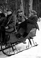 Göring, Hermann, 12 1 1893 - 15 10 1946, deut Politiker NSDAP, Reichsmarschall, mit dem polnischen Ministerpräsident Ignacy Moscicki auf der Jagd, Bia...