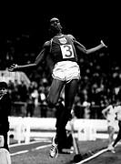 Beamon , Robert ´Bob´, * 29.8.1946,   US Leichtathlet (Weitsprung), bei  einem Wettbewerb 1968   Athlet, Sportler, Goldmedaille Olympische Spiele Mexi...
