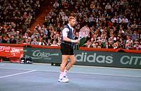 Becker, Boris , * 22.11.1967, deut.  Tennisspieler, auf dem Spielfeld, COMPAQ Grand Slam, München 1994  Sport, Sportler, Tennis, Tennisschläger, Match