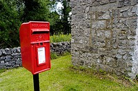 Post box in countryside. Peak District, England