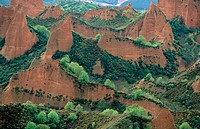 Las M&#233;dulas, ancient roman gold mining site. Le&#243;n province. Spain