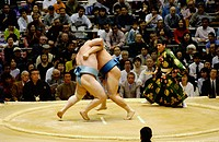 Sumo wrestling. Osaka. Japan