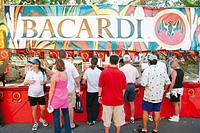 Bacardi rum vendor´s booth. Coconut Grove Arts Festival. Florida. USA