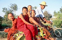 Buddhist monks in Inle. Myanmar