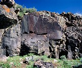 Native American Petroglyphs. Hart Mountain National Antelope Refuge. Lake County. Oregon, USA