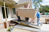 Residential movers move family belongings from old to new home