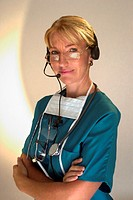 Doctor with headset