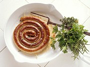 Rolled-up Bratwurst