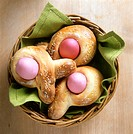 A Basket Filled with Easter Rolls