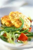 Fish frikadeller with bean salad