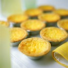 Lemon tartlets in baking cases