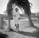 Gandhi before his fast at Rajkot. Gujarat. India. March 3, 1939