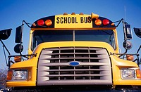 School bus viewed from front