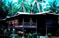 A kampung house, Malaysia