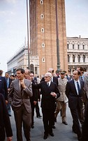 Alessandro Pertini (1896-1990), politician and president of Italy (1978-85), in Venice
