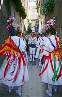 ´Danza de la Italianas´. Garganta la Olla. Caceres province. Extremadura. Spain