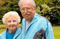Portrait of sporty older couple