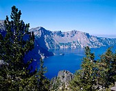 Crater Lake National Park in summer. Oregon. USA