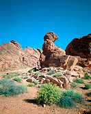 Valley of Fire State Park: Aztec sandstone formations. Nevada. USA