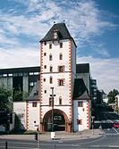 Germany, Mainz, Rhineland-Palatinate, Eisen Tower, town tower