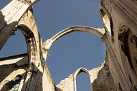 Church do Carmo ruins (demoslished by the 1755 earthquake). Lisbon. Portugal