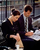 Business & Profession, Executive, City, Couple, Lunch-break