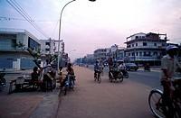 A street scene in Phnom Penh, Cambodia