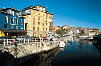 Fishing port. Llanes village. Asturias. Spain