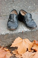 Shoes in autumn