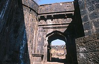 Lohgad fort in Lonavala region. Maharastra, India